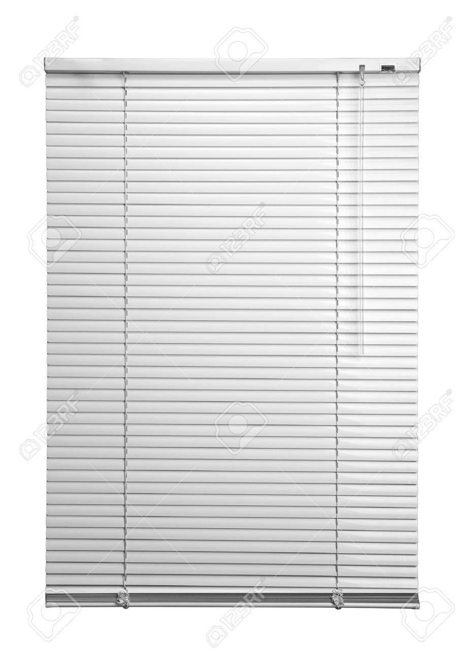 Stock Photo White Plastic Window Blinds Close Studio Shot