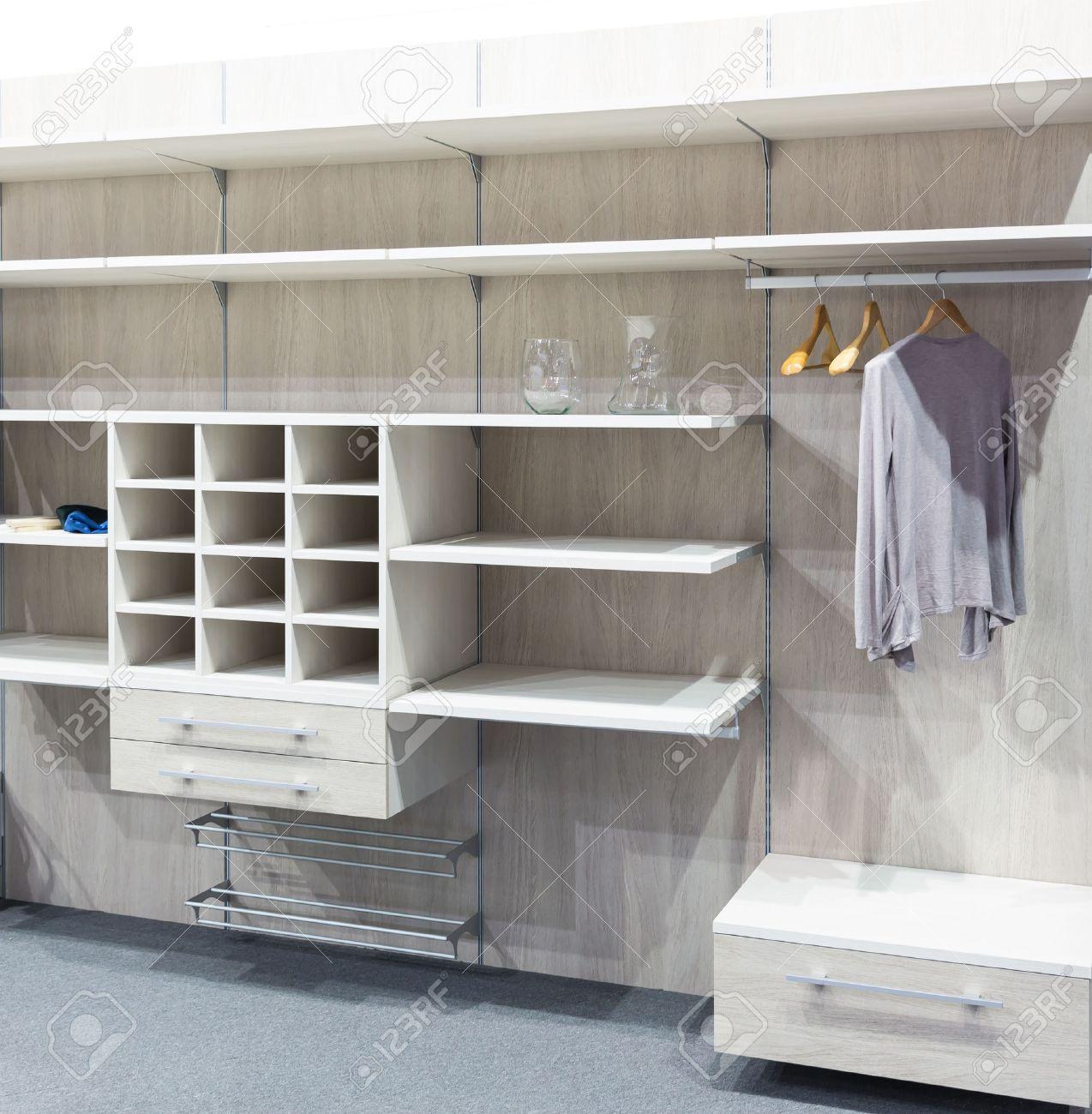 Modern white wooden dressing room Stock Photo - 39499529