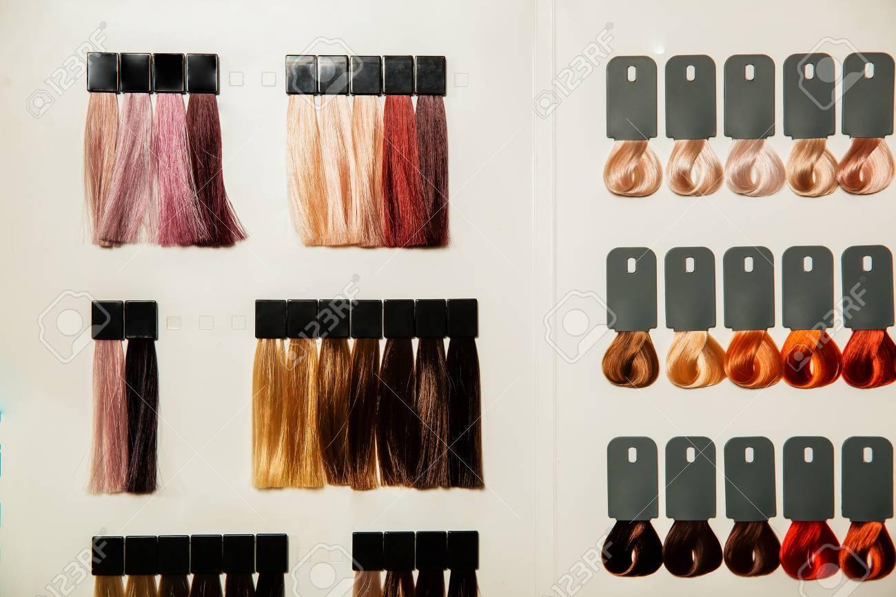 Palette de couleur pour cheveux