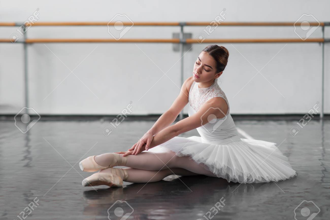 Beautiful Ballerina Posing In Ballet Class Stock Photo Picture And Royalty Free Image Image 73672517