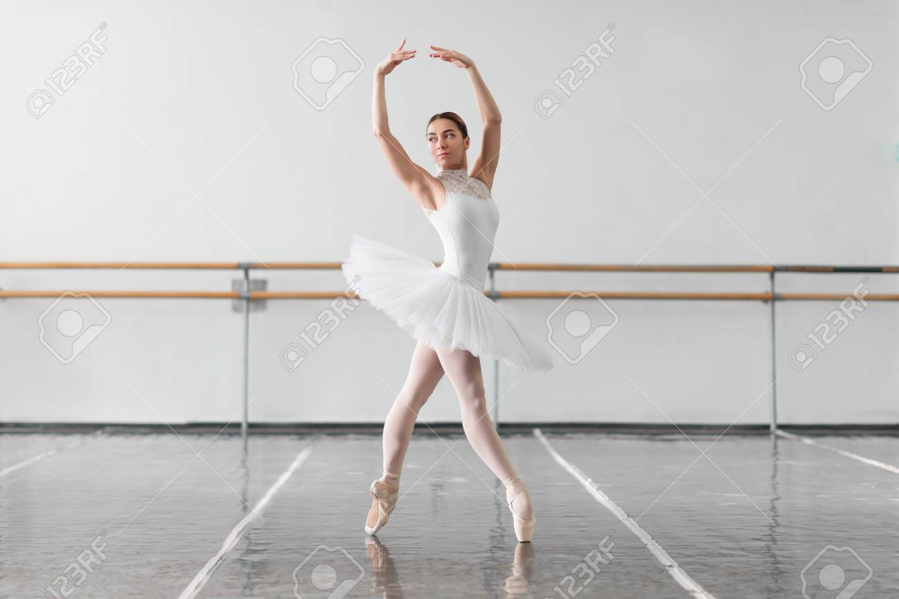 Beautiful Ballerina Rehearsal In Ballet Class Stock Photo Picture And Royalty Free Image Image 73347335
