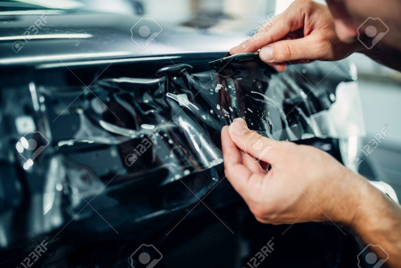Paint Protection Film >> Specialist Install Car Paint Protection Film Stock Photo Picture