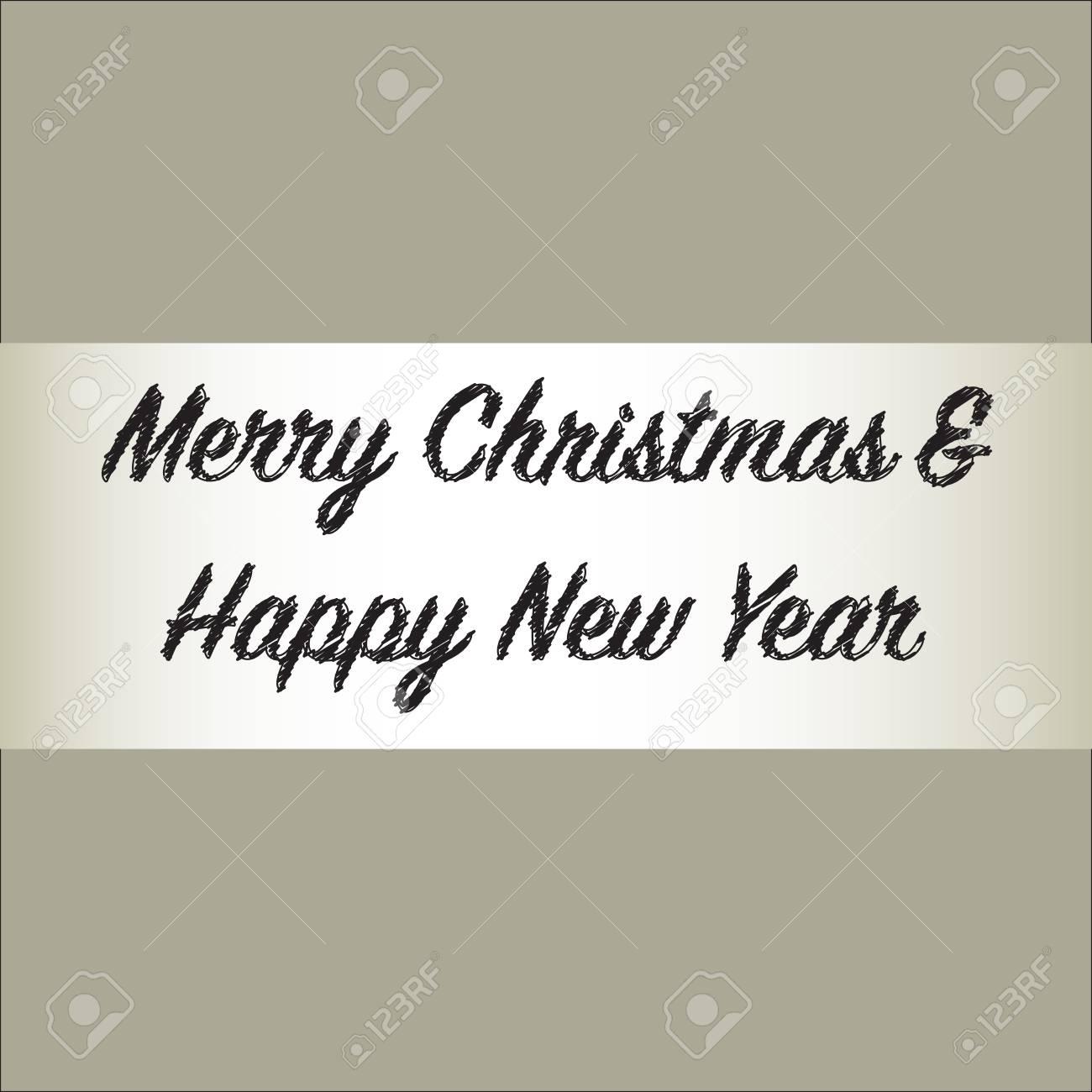 Frohe weihnachten und happy new year text als zukünftige gestaltung urlaub hintergrund standard bild