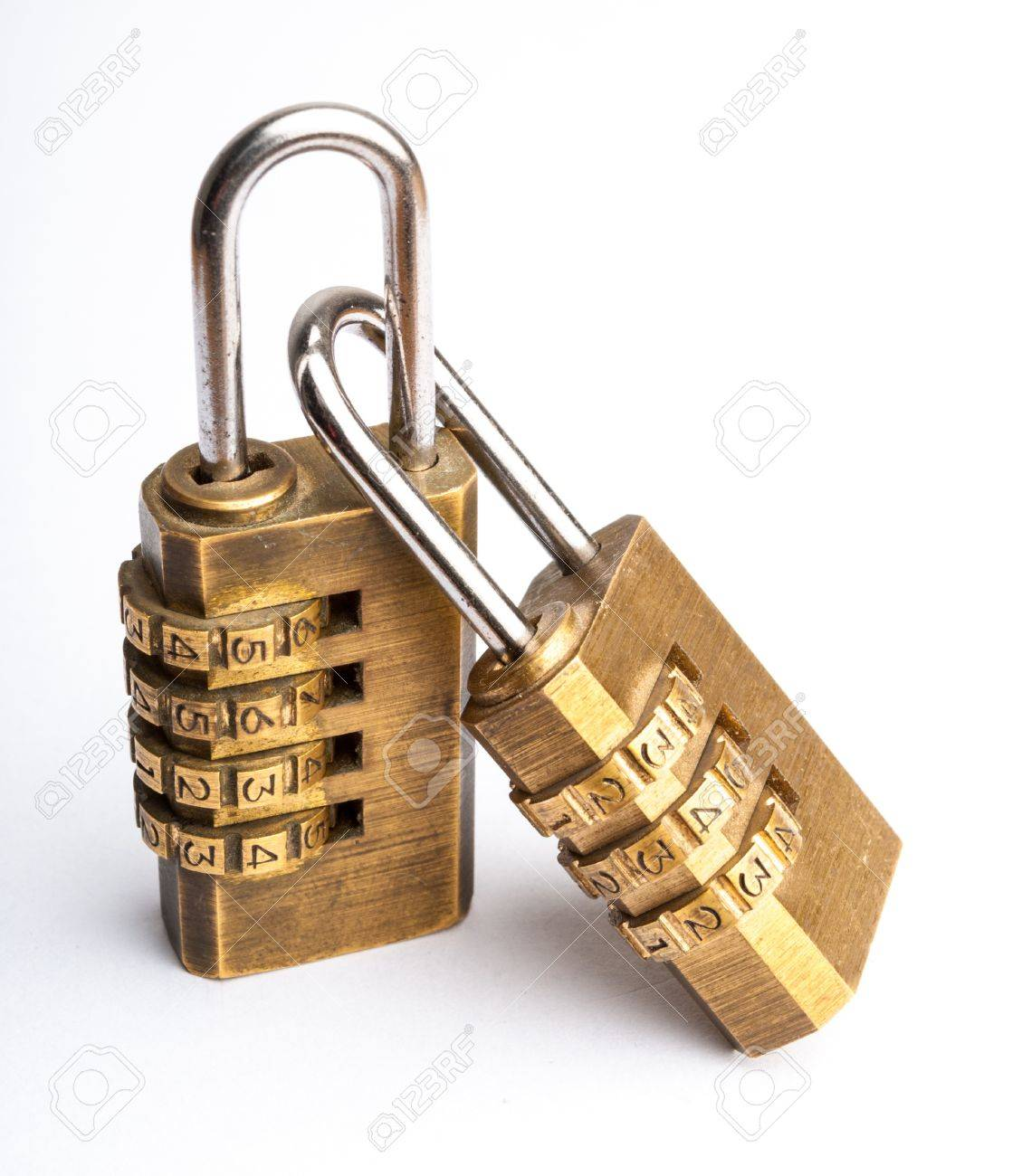 Related Pair of golden code master key, isolated Stock Photo - 18196284
