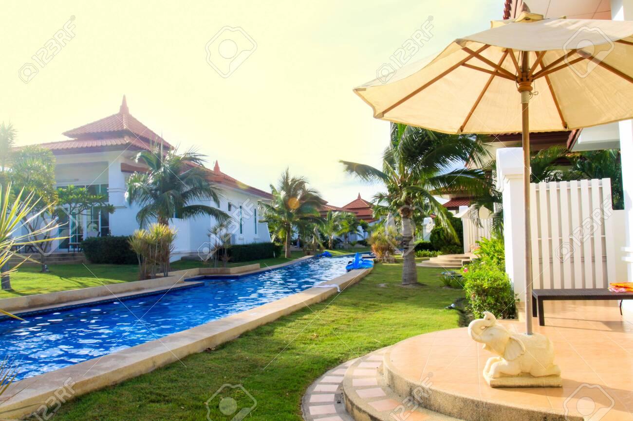 modern Swimming pool relaxing time - 121918180