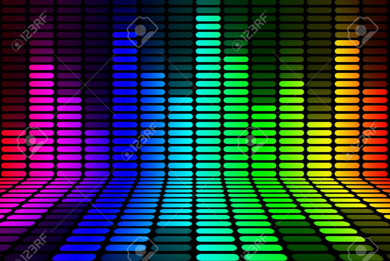 Digital Equalizer With Rainbow Color Stock Illustration | Getty Images