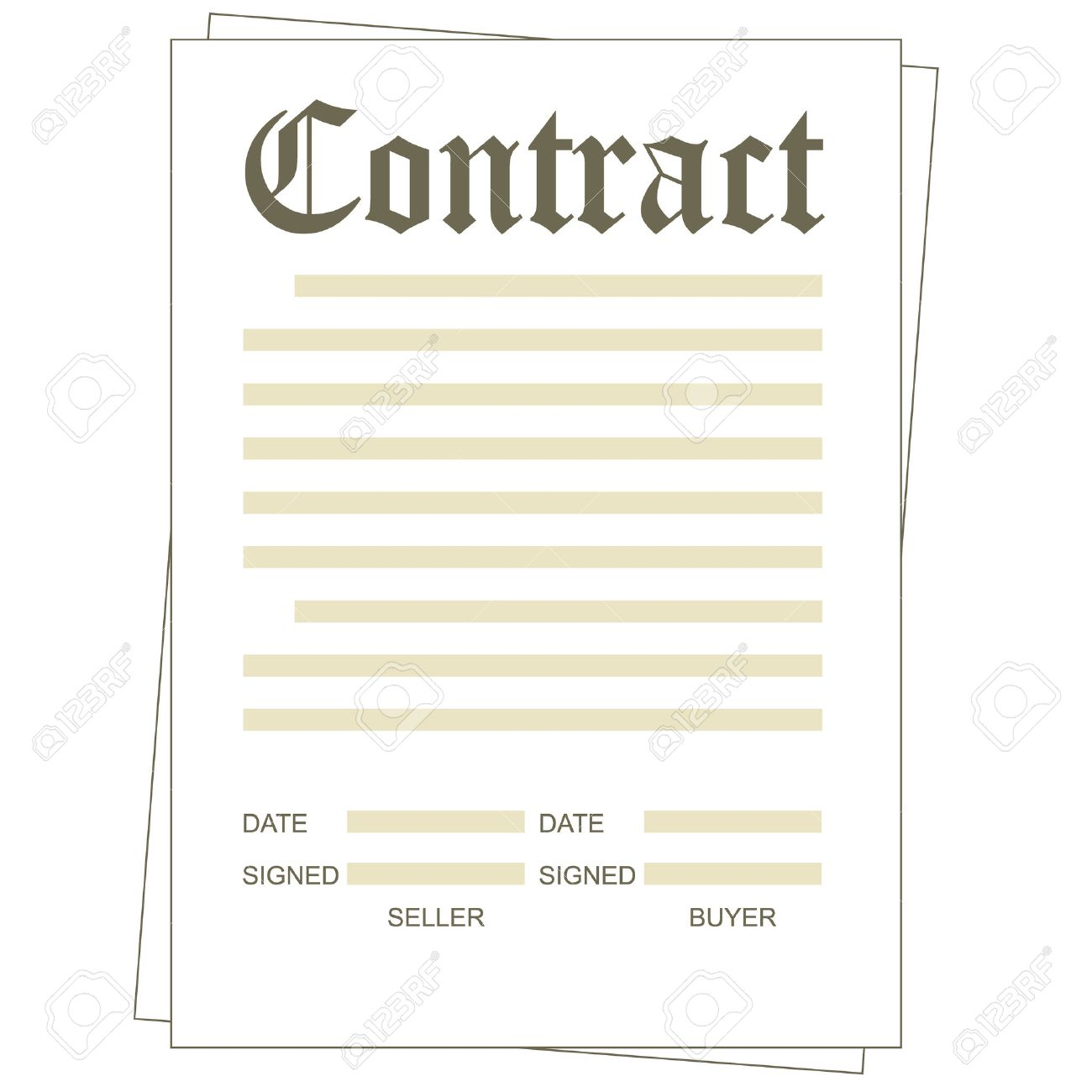 Exceptional Illustration Of The Paper Blank Contract Form Stock Vector   23113599 Intended Blank Contract Template