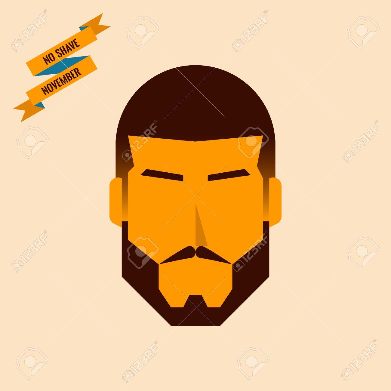 男らしい顔のないひげをそる 11 月精練背景イラストのイラスト素材
