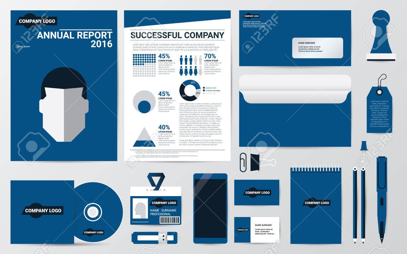 Corporate identity annual report book cover,letter,cd and stationary..