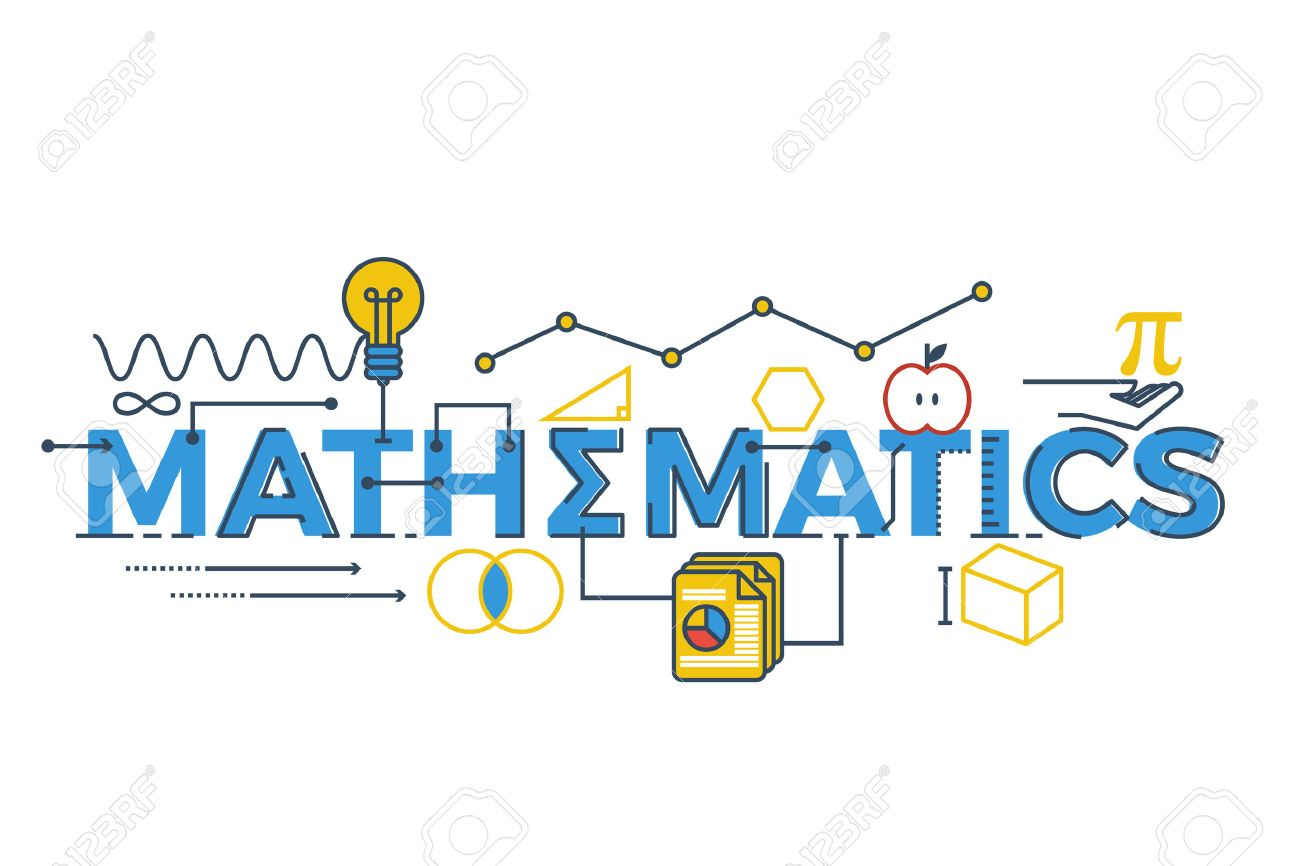 Illustration of MATHEMATICS word in STEM - science, technology, engineering, mathematics education concept typography design with icon ornament elements Stock Vector - 58137319
