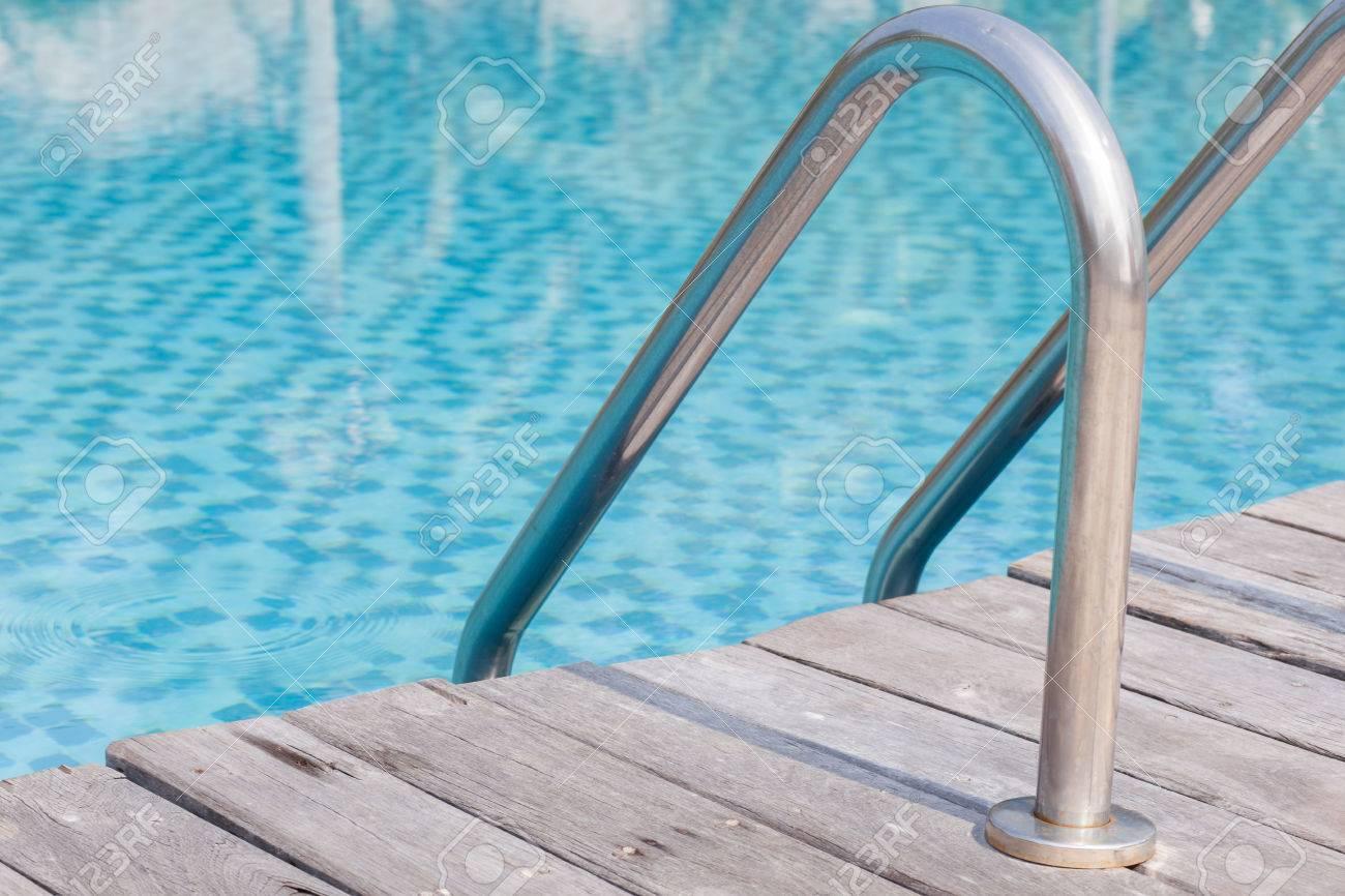 Durable swimming pool ladders steel