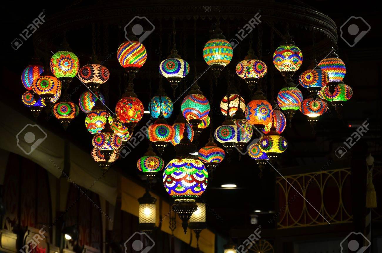 en turcas lámparas decoradas el techo Coloridas 5A3LRjq4