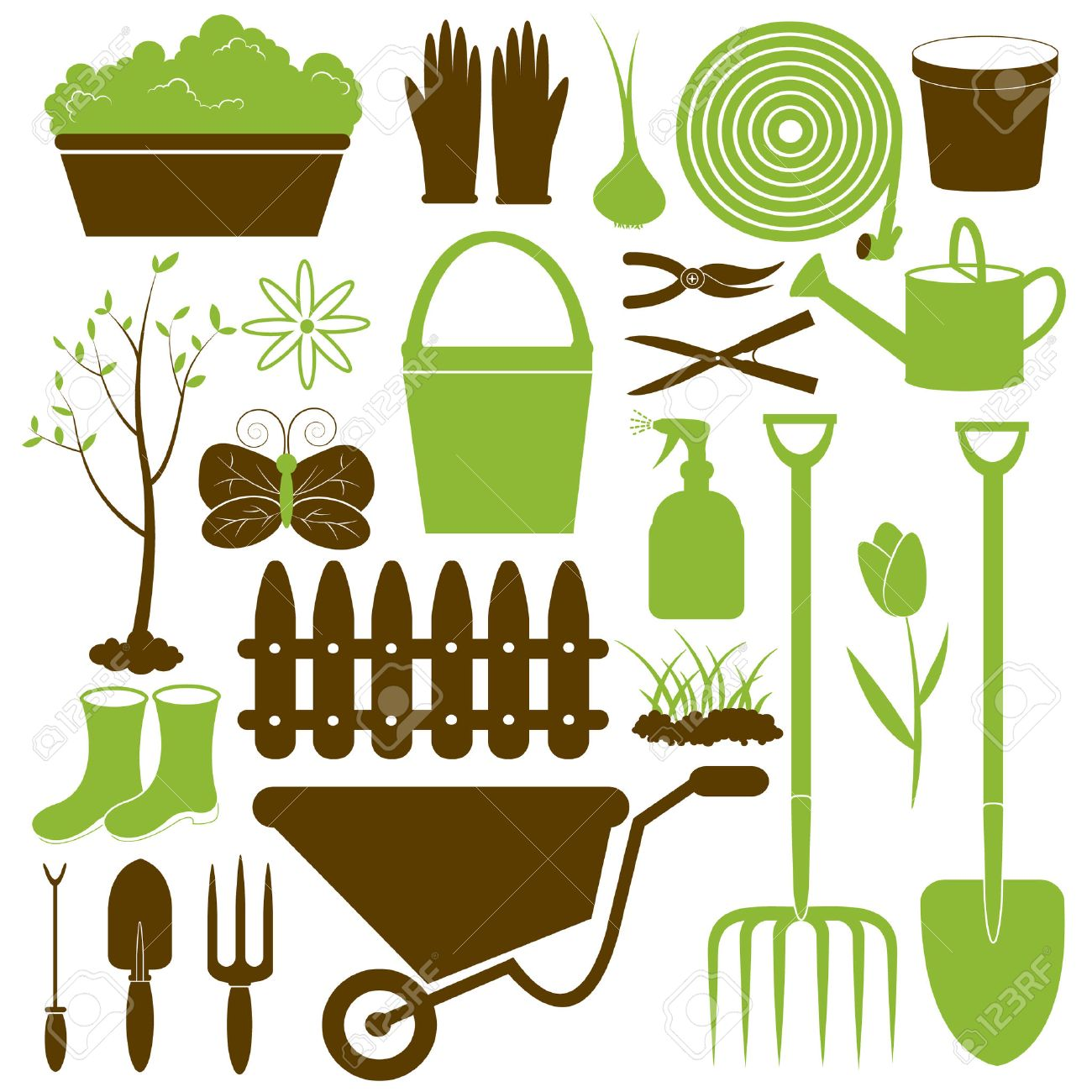 grass cutter cliparts stock vector and royalty grass grass cutter vector gardening icons collection