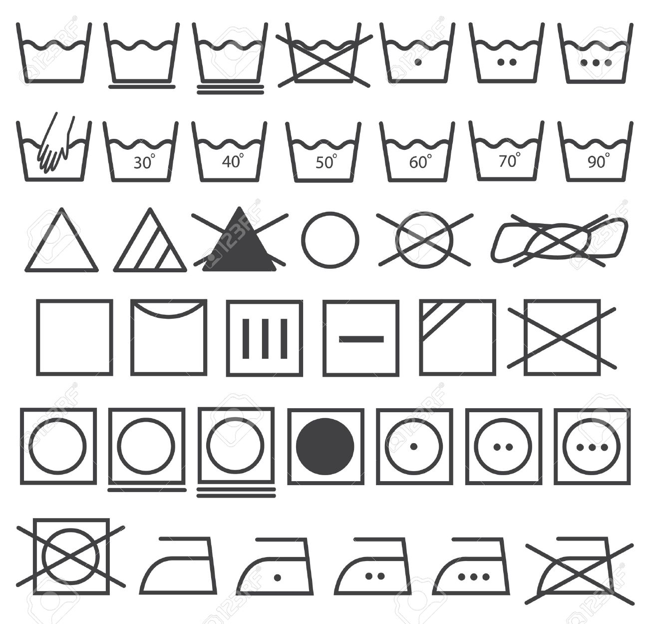 Laundry icons vector set washing symbol royalty free cliparts laundry icons vector set washing symbol stock vector 24525765 biocorpaavc Image collections