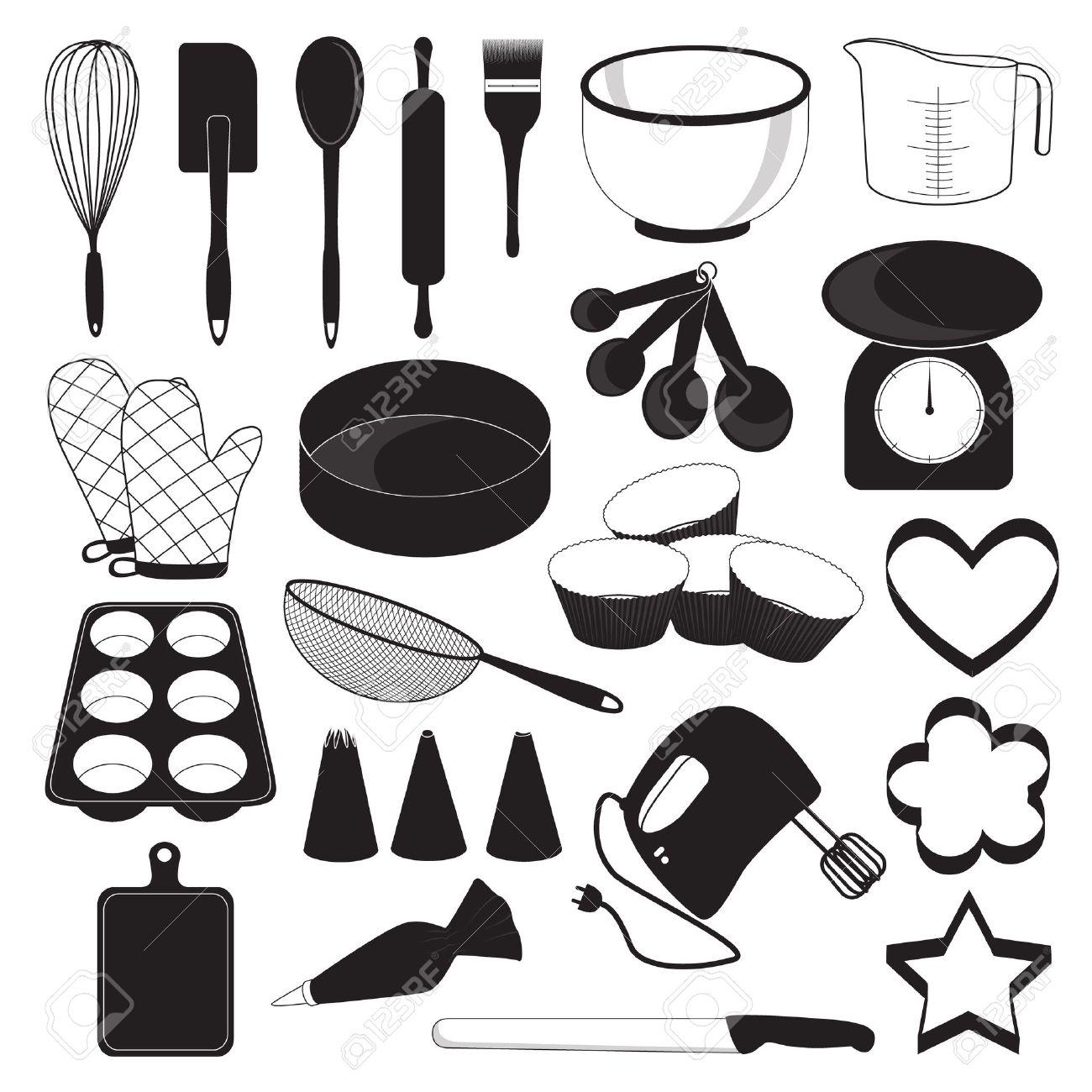 Baking Tools Vector Baking Tool Icons Set Royalty Free Cliparts Vectors And Stock