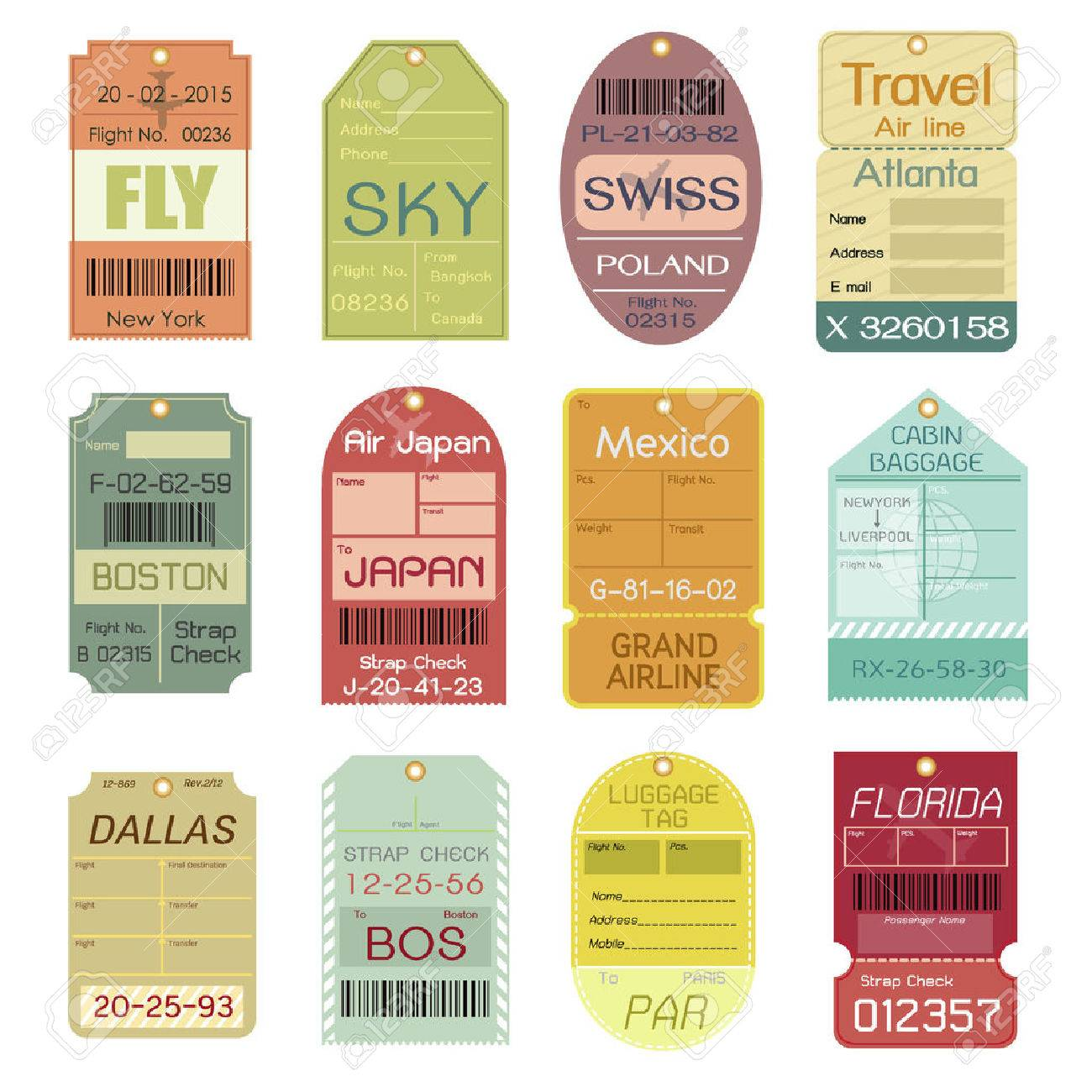 printable luggage flight labels free guide luggage tag.html