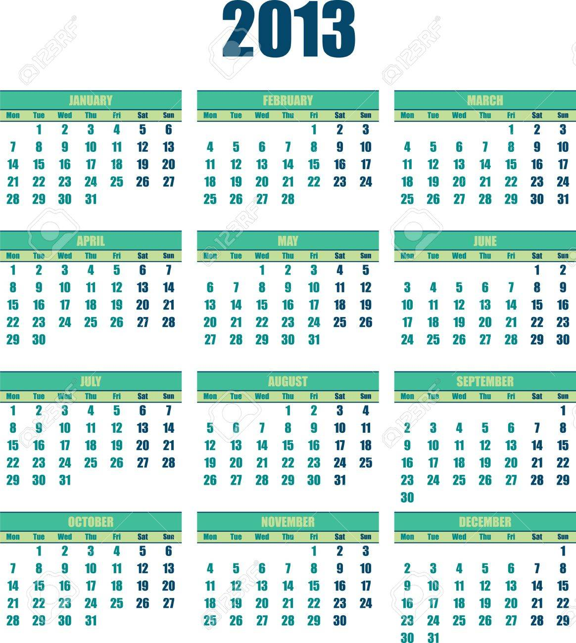 The 2013 Green Calender