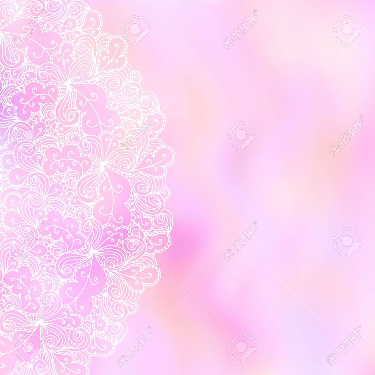 Abstract Background Wedding Invitation Or Greeting Card Design