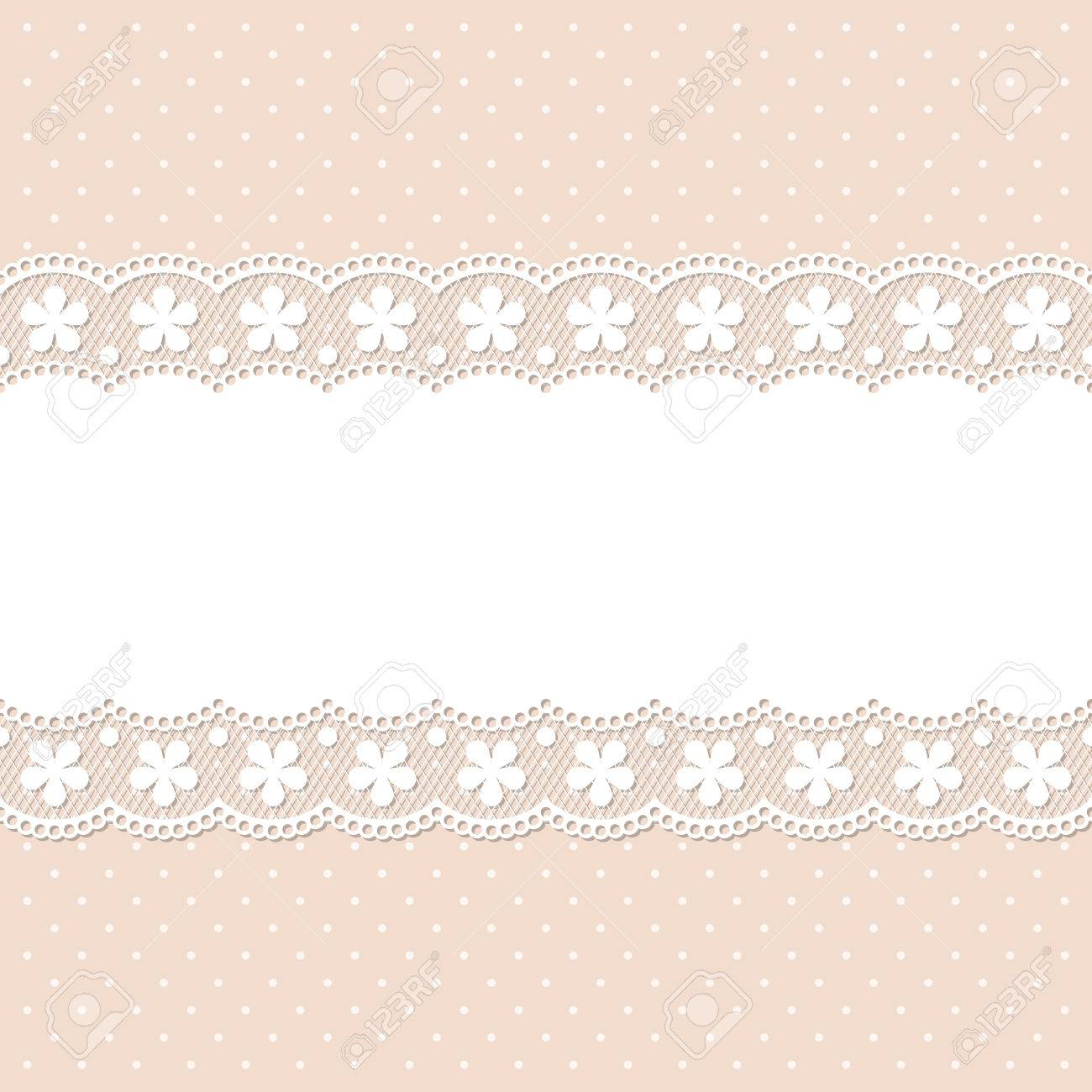 retro lace background template for wedding invitation or greeting
