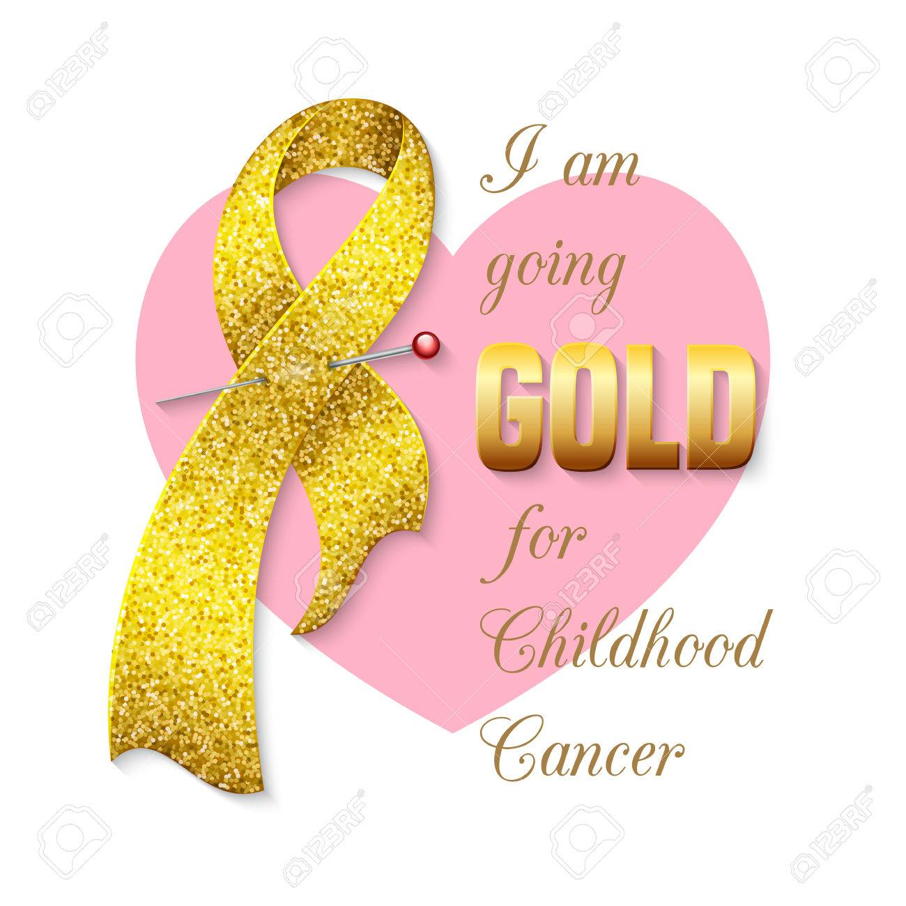 Childhood Cancer Awareness Ribbon. Poster Or Banner Template ...