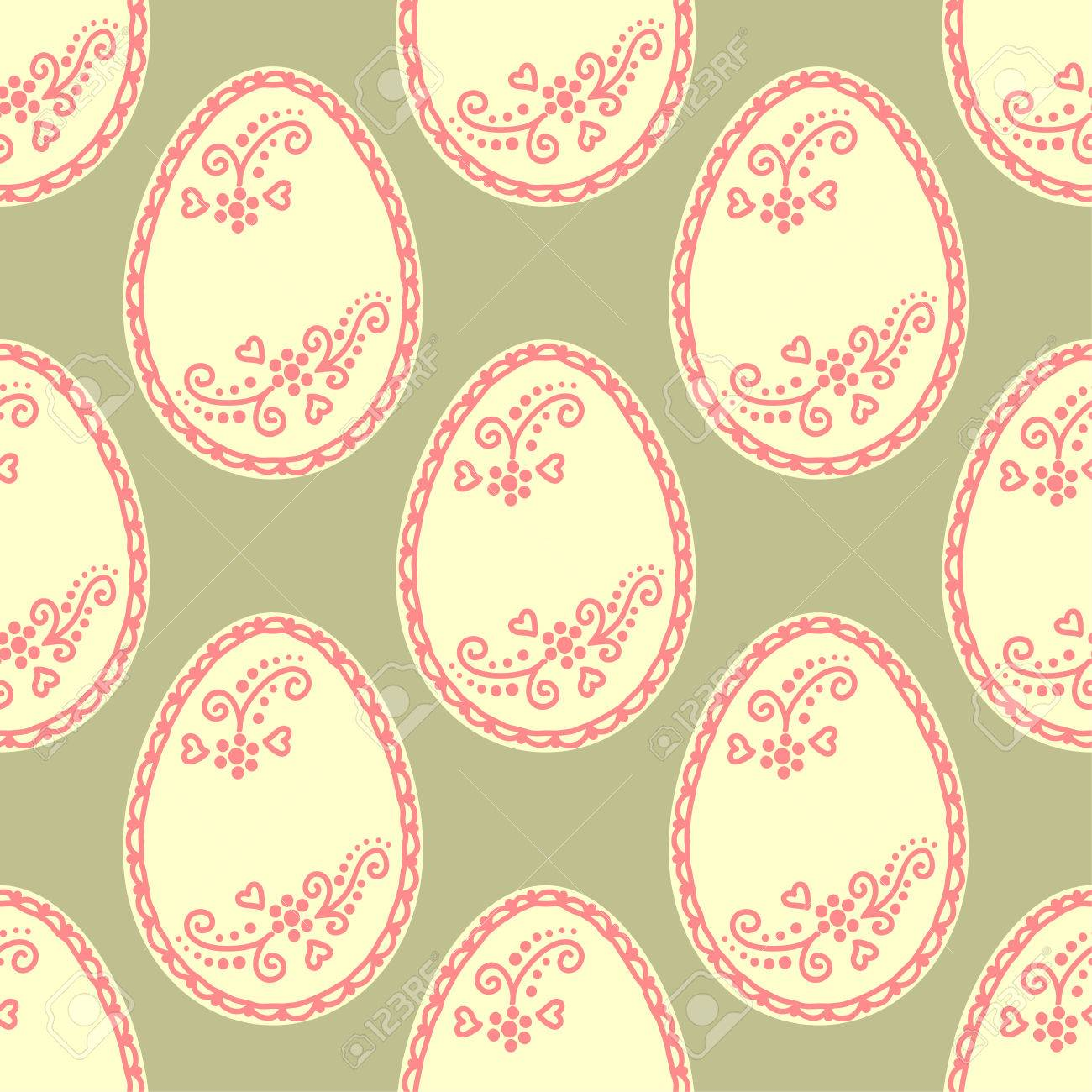 Seamless pattern with easter eggs background for greeting card seamless pattern with easter eggs background for greeting card invitation wrapping vector stopboris Choice Image