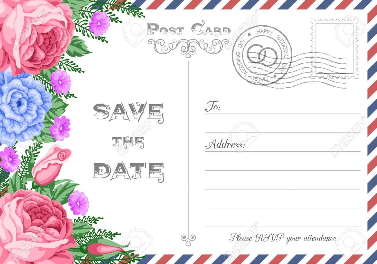 Emejing Vintage Postcard Wedding Invitations Images - Styles & Ideas ...