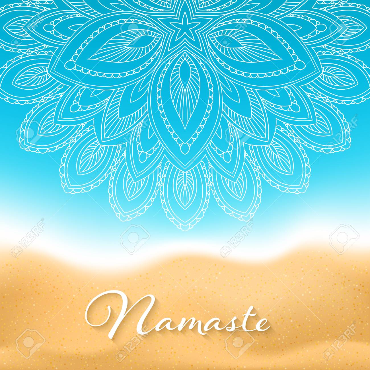 Flyer Or Brochure Template With Hand Drawn Mandala Pattern On Royalty Free Cliparts Vectors And Stock Illustration Image 92329338