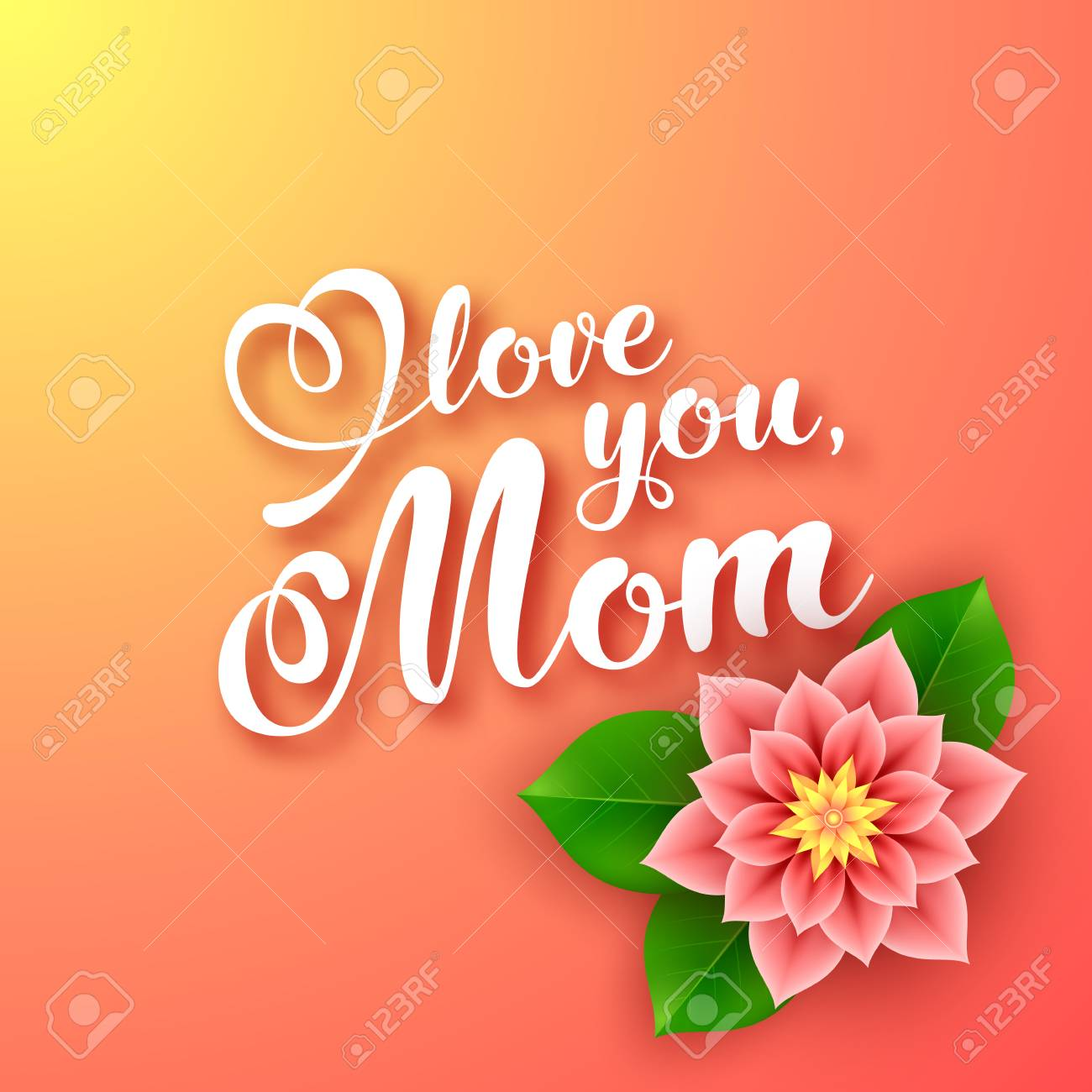 Mothers day greeting card with flower vector illustration royalty mothers day greeting card with flower vector illustration stock vector 99559826 m4hsunfo