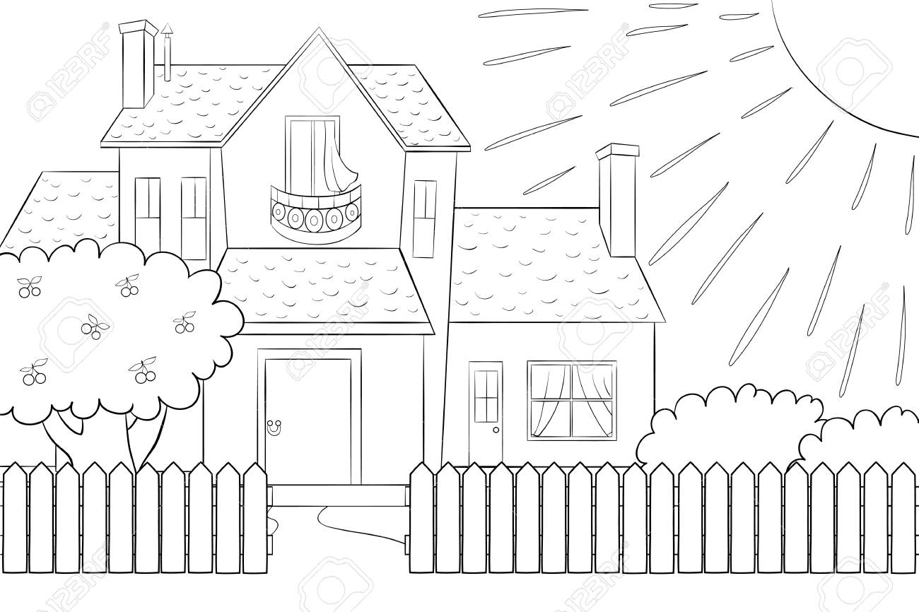 A cute house with tree,bushes,fence and sun image for children.. Zentangle Designs Garden Fence on garden landscape designs, garden home designs, front garden designs, entrance garden designs, garden sidewalk designs, garden stairs designs, garden border designs, garden frame designs, garden exterior designs, garden design software, garden fireplace designs, garden fences to keep animals out, garden pergola designs, garden plant designs, rock garden designs, garden structure designs, garden hedge plant, garden barn designs, bamboo garden designs, garden vegetable cream cheese recipe,