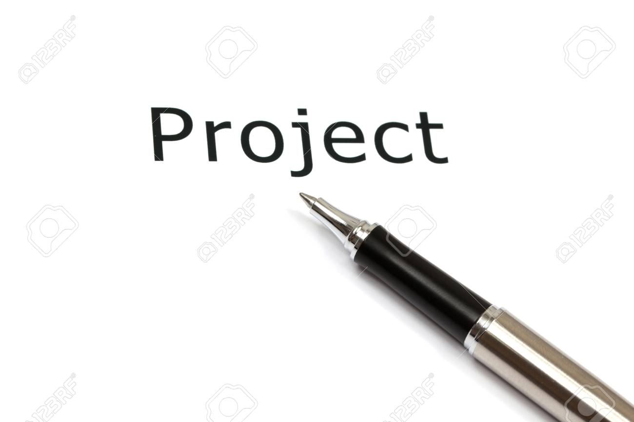 The word project close up in paper Stock Photo - 18413800