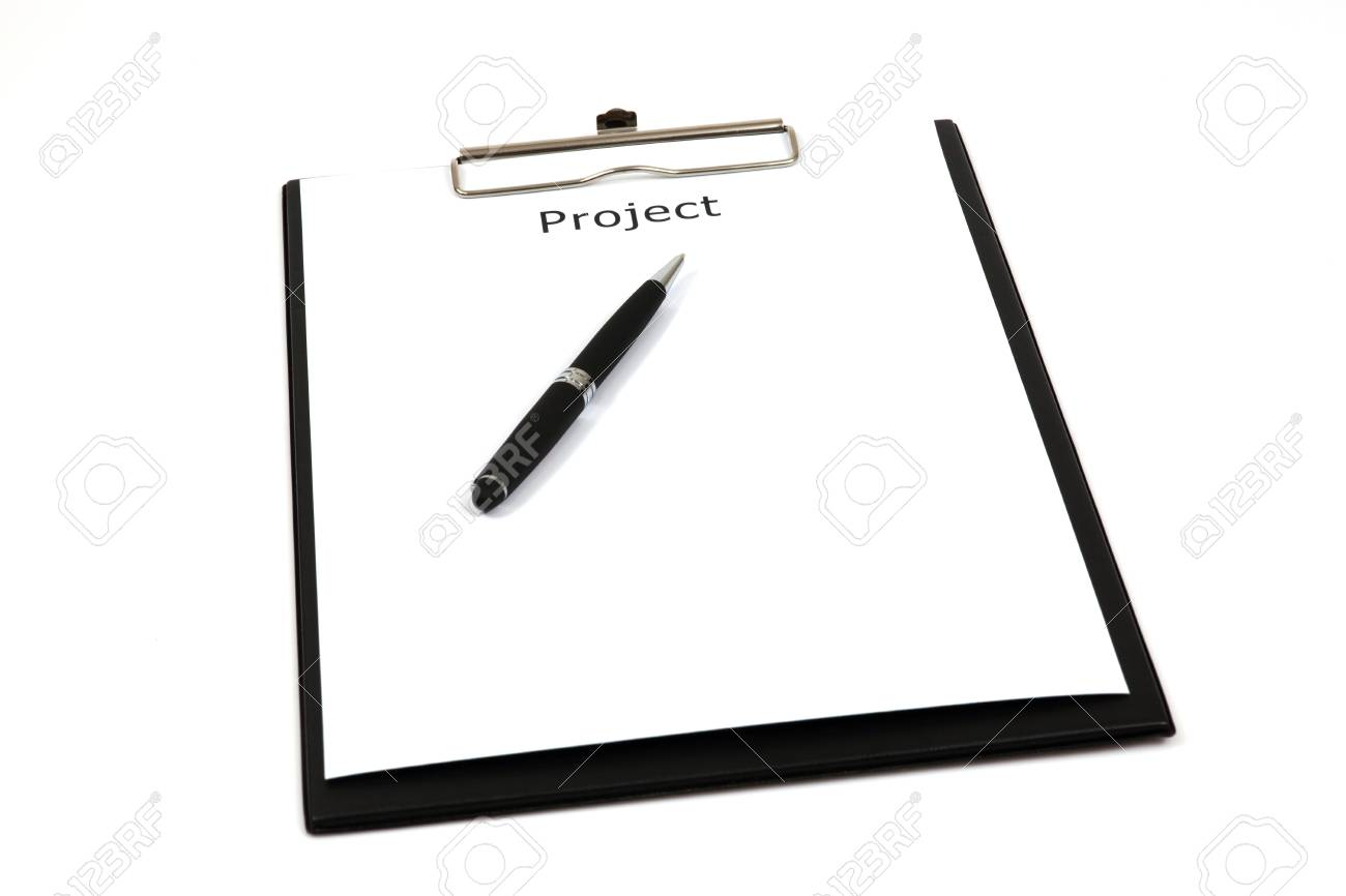 The word projects close up in paper Stock Photo - 18730170