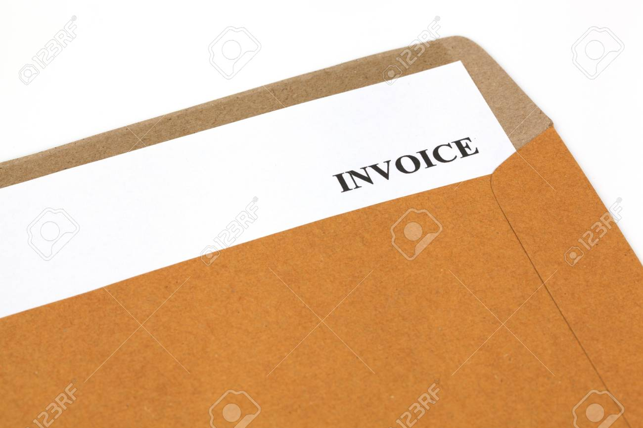 invoice, estimates and statements in folder Stock Photo - 18808870