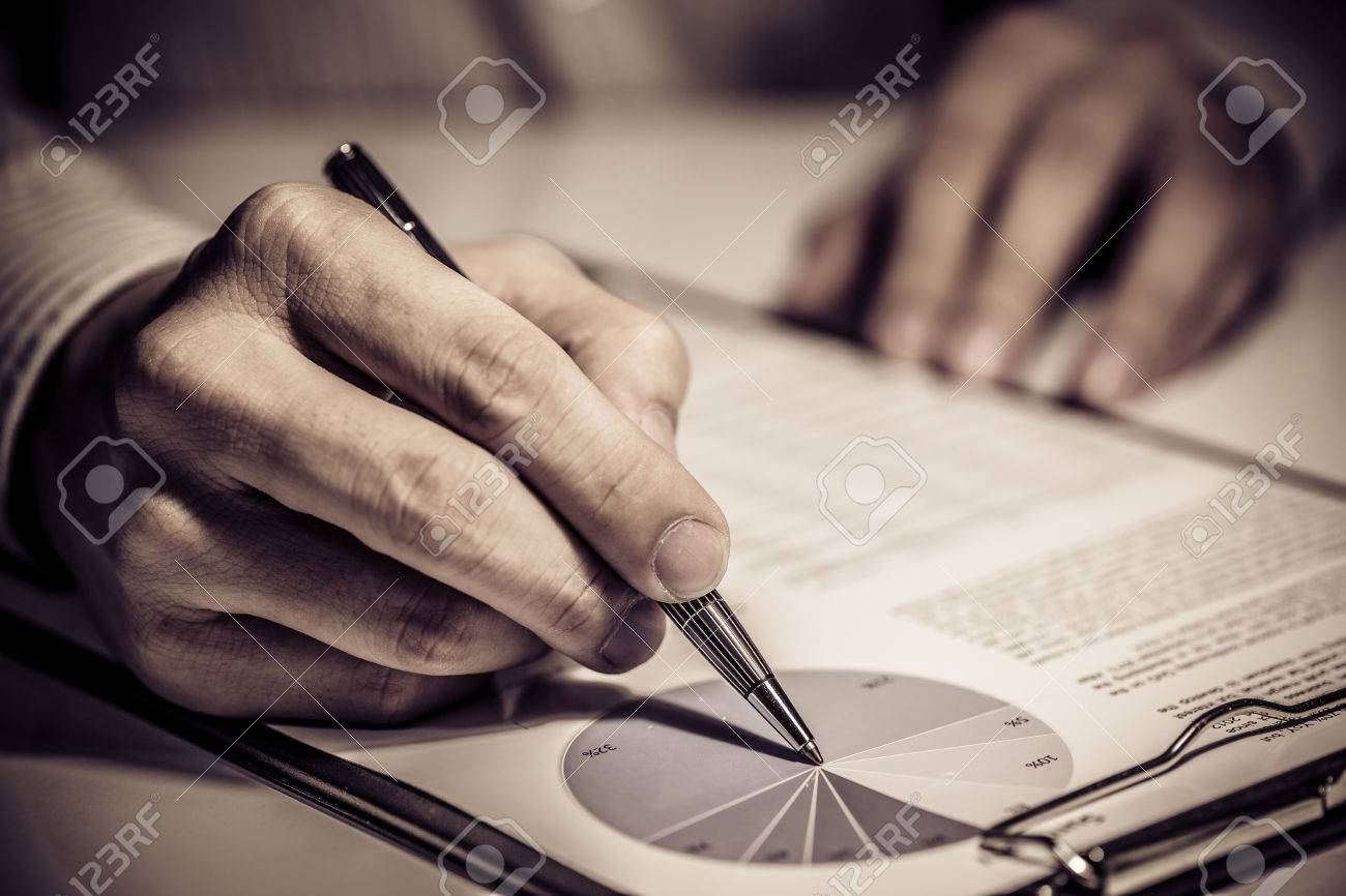 signing finance contract Stock Photo - 31441256