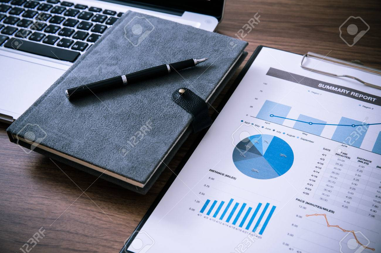 Showing business and financial report. Accounting Stock Photo - 34831161