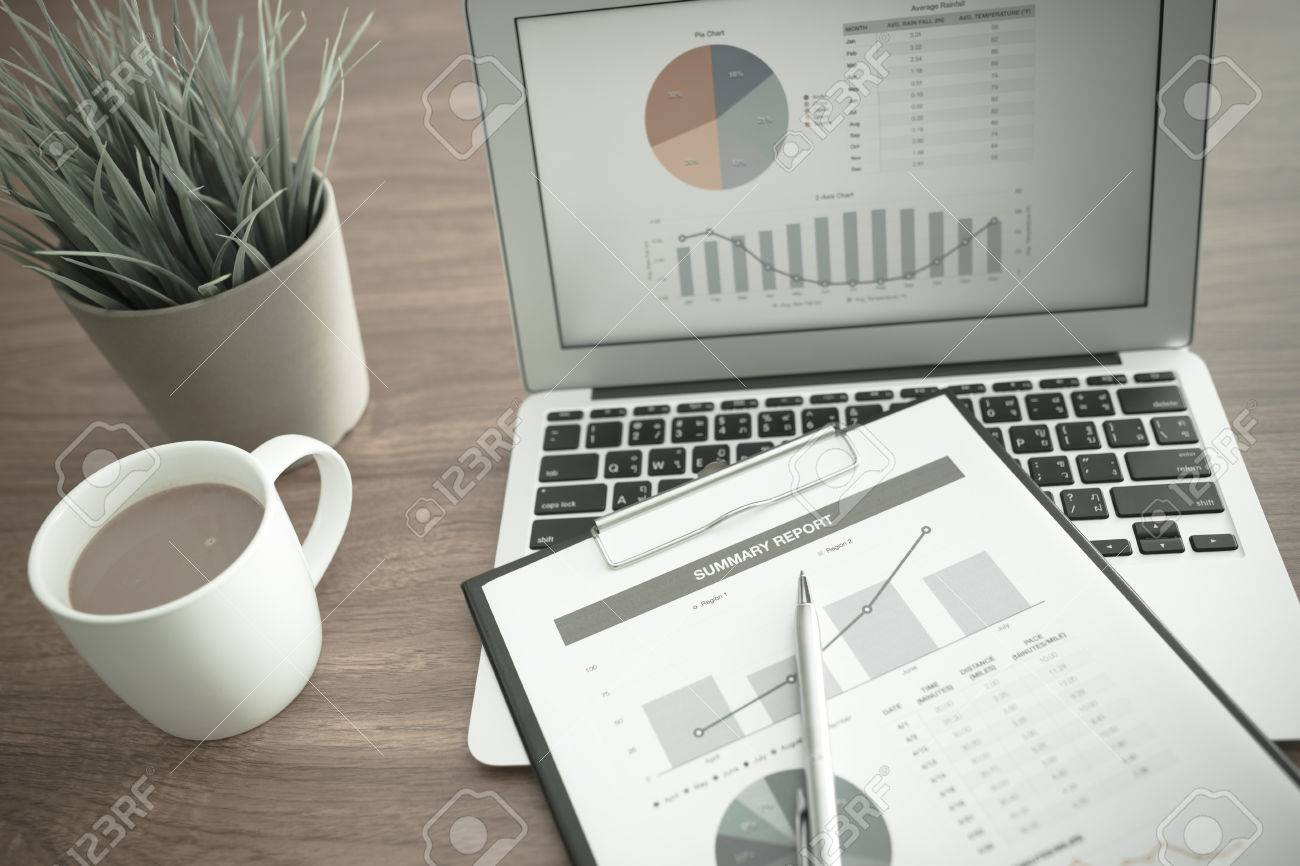 Showing business and financial report. Accounting Stock Photo - 39844429