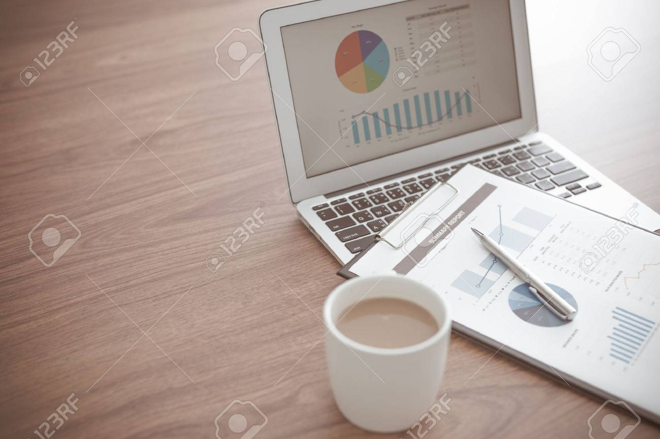 Showing business and financial report. Accounting Stock Photo - 40413002