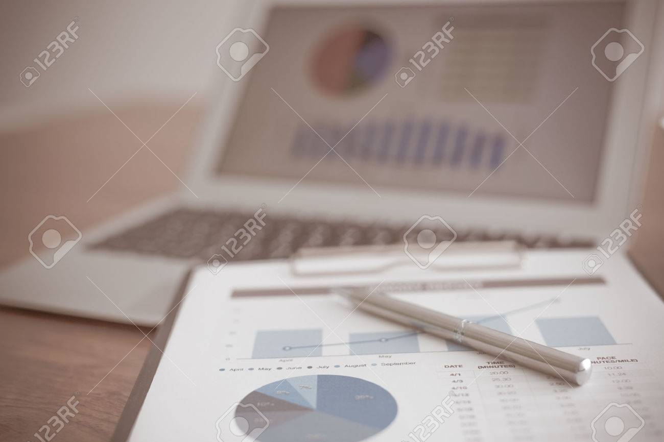 Showing business and financial report. Accounting Stock Photo - 40423885