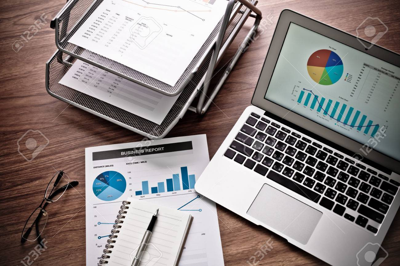 Showing business and financial report. Accounting Stock Photo - 41066273