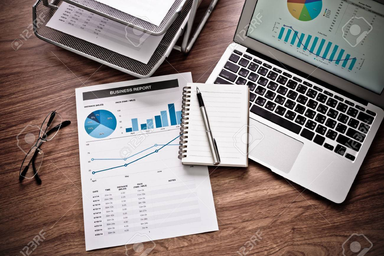 Showing business and financial report. Accounting Stock Photo - 41794178