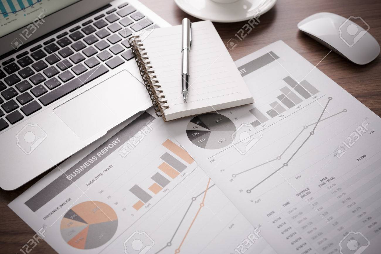Showing business and financial report. Accounting Stock Photo - 43449061