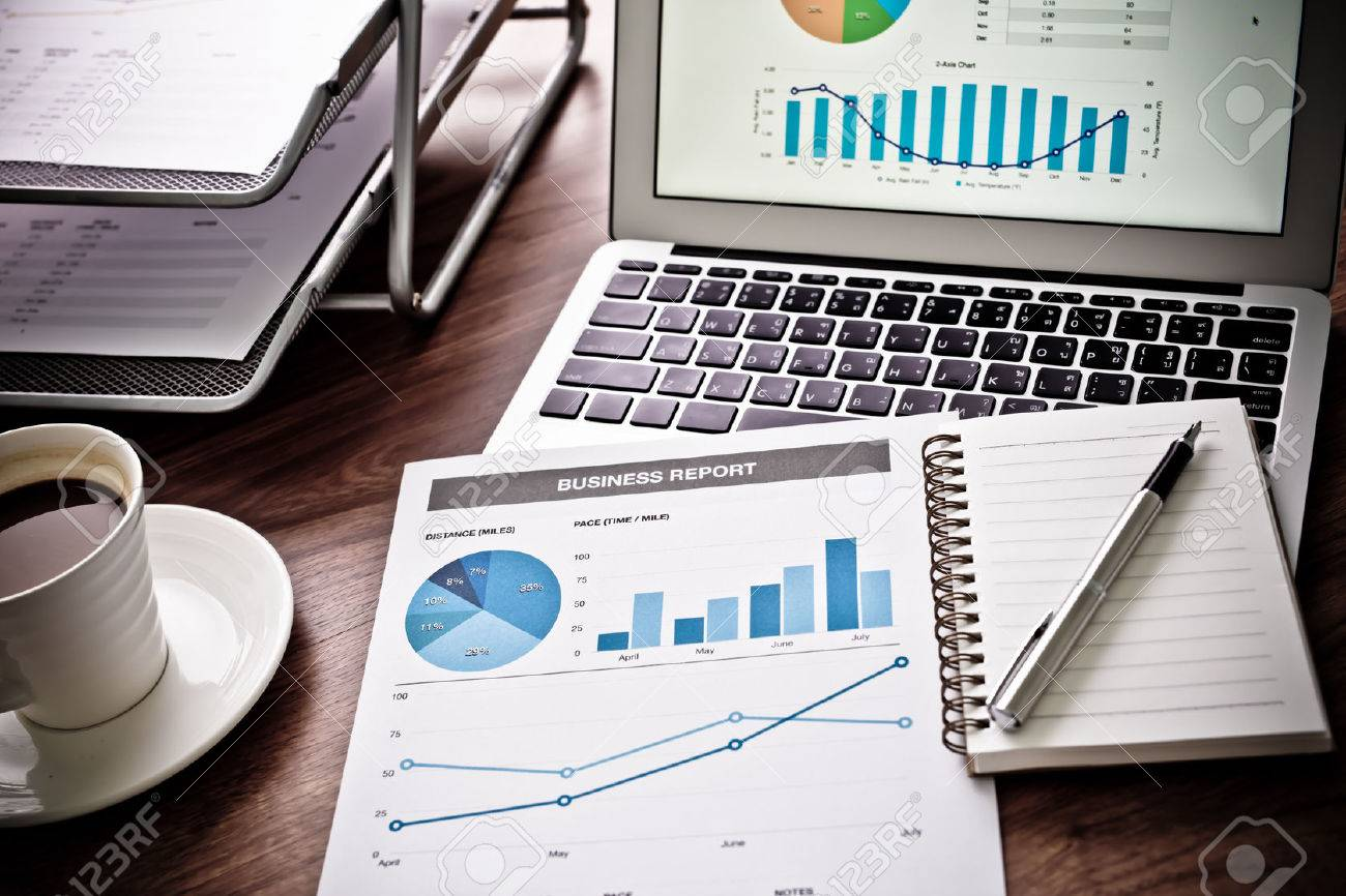 Showing business and financial report. Accounting Stock Photo - 44301612