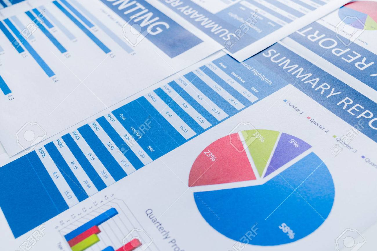Showing business and financial report. Accounting Stock Photo - 48791102