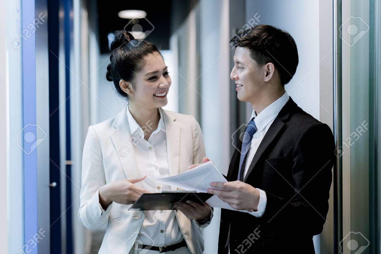 Business People Talking Discussing Concept.Asian - 77021025