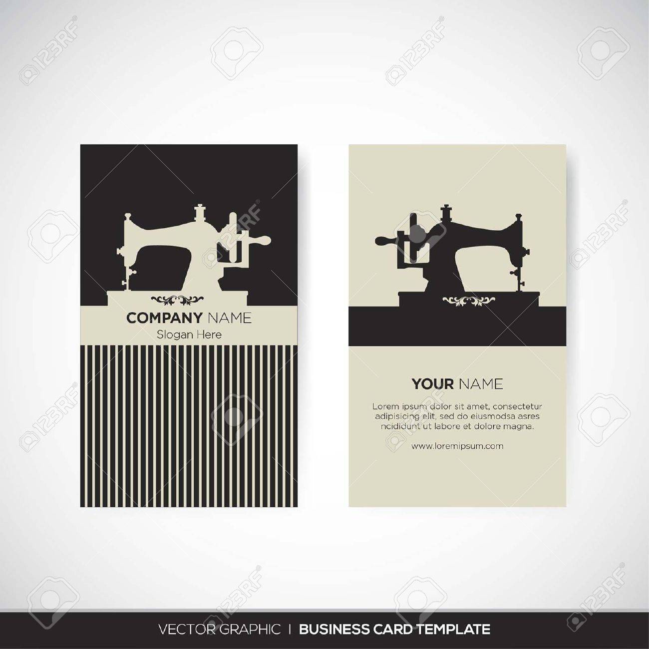 Business Card Template Royalty Free Cliparts, Vectors, And Stock ...