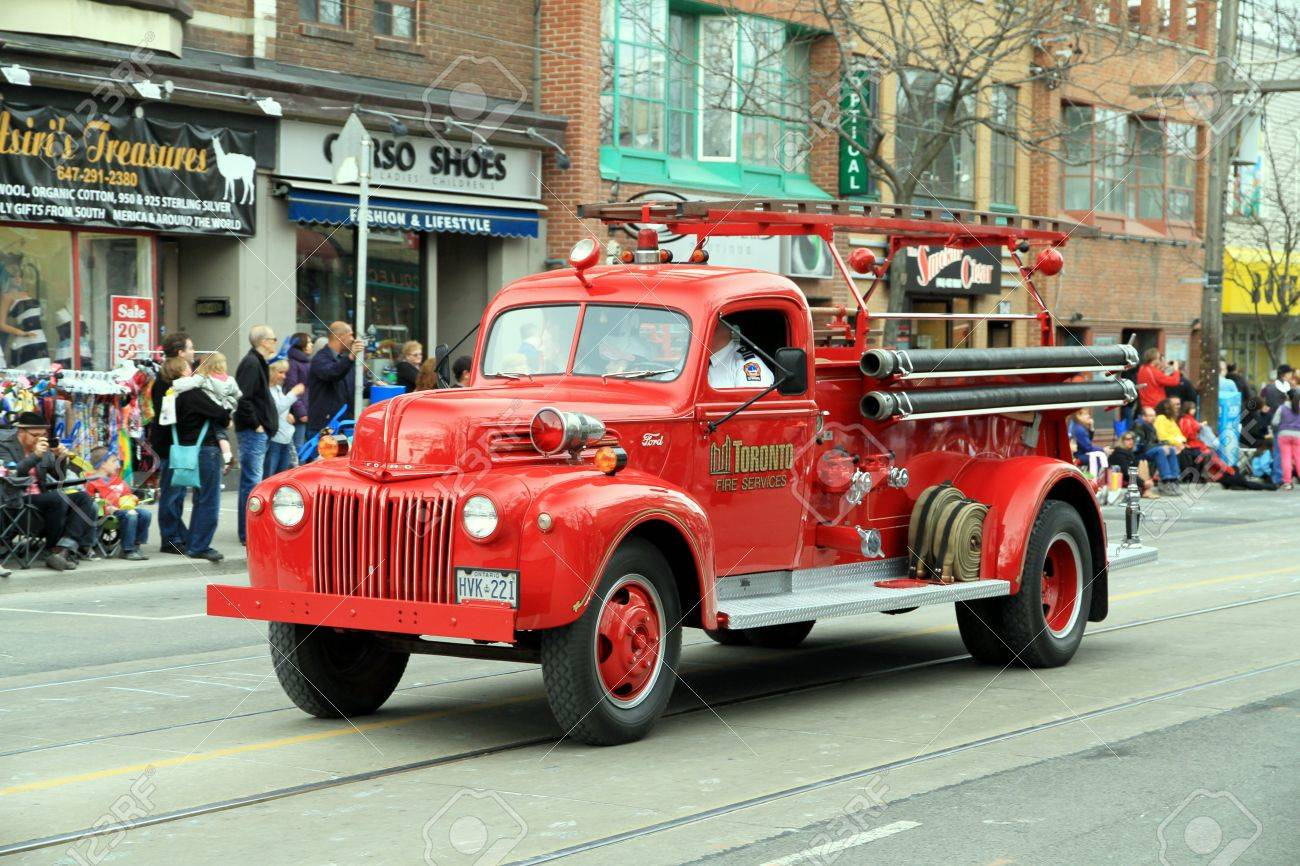 A Toronto fire fighting vehicle during a street parade Stock Photo - 13353390