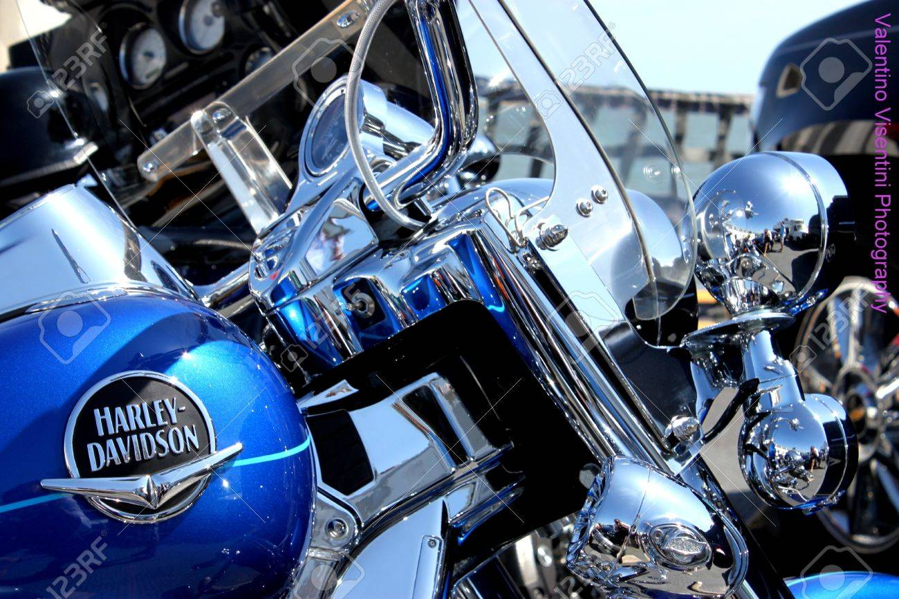 delaware, usa, august 14, 2010 - an harley-davidson on the