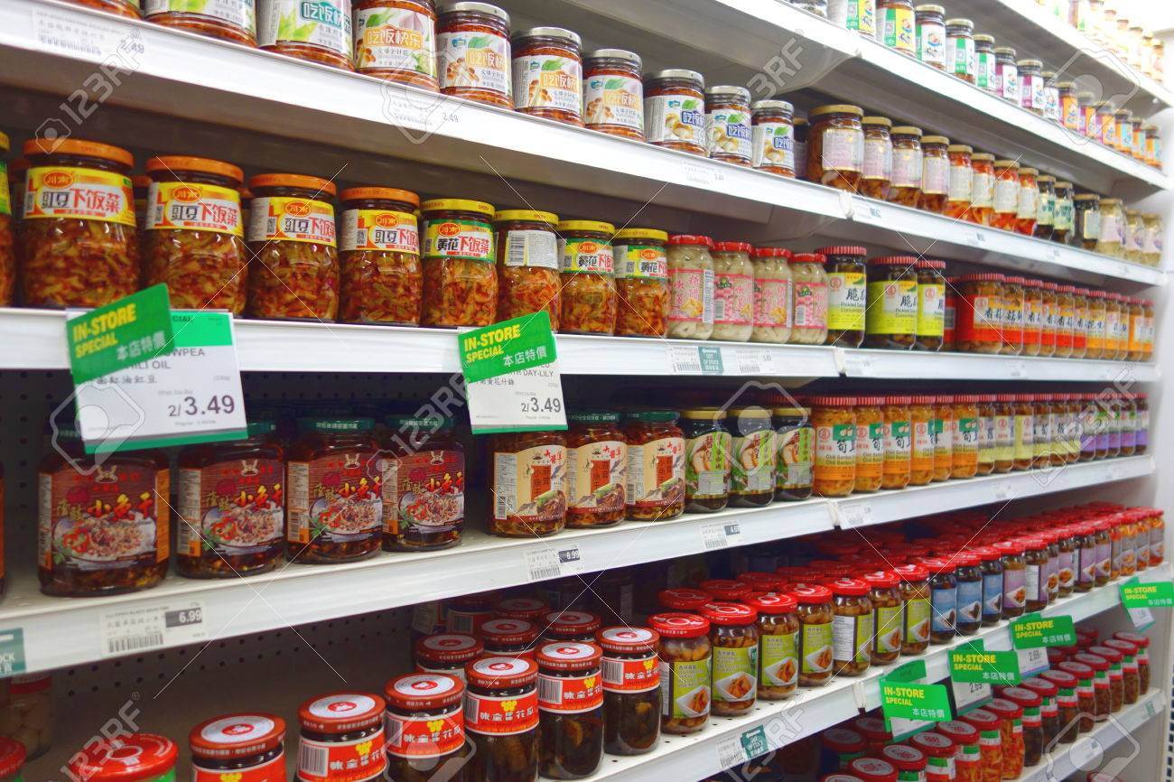 ff3cdedb163 Asian cuisine products in jars at a supermarket in Toronto, Canada