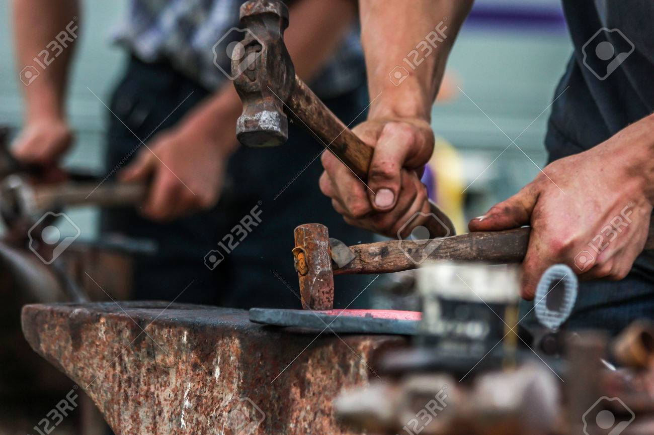 horseshoe being crafted by a skilled blacksmith/farrier - 31149886