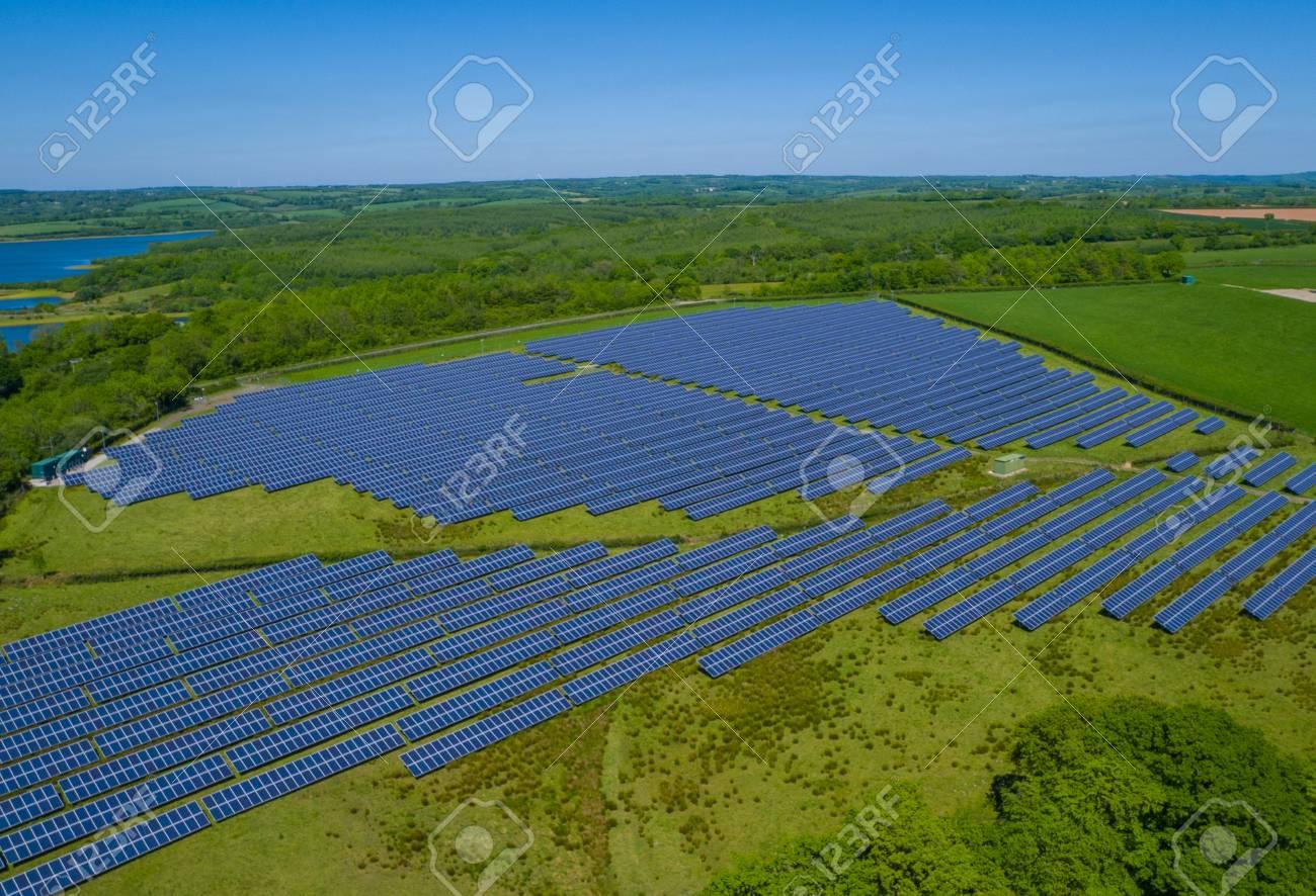 Solar Panel Power Plant Aerial - 80467031