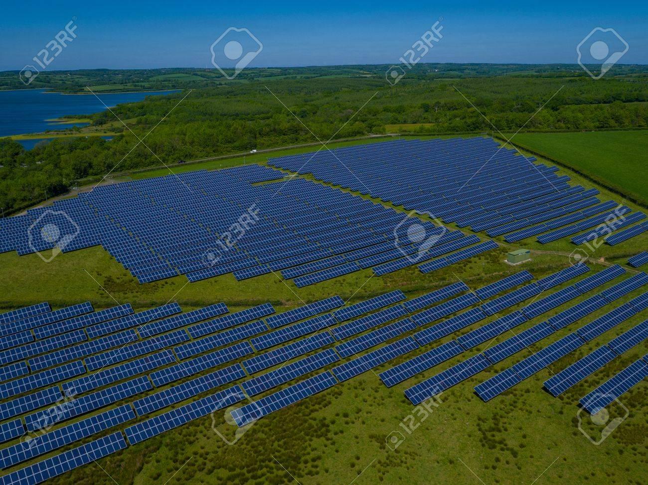 Solar Panel Power Plant Aerial - 80467036